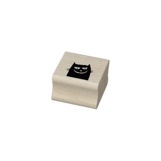 Carimbo De Borracha selo da arte da cabeça do gato preto