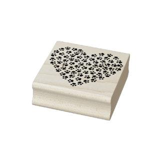 Carimbo De Borracha Selo da arte da silhueta do coração do impressão