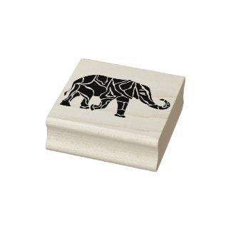 Carimbo De Borracha selo da arte da silhueta do estêncil do elefante