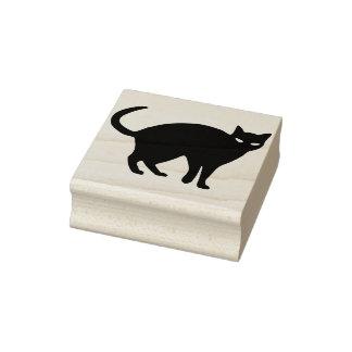 Carimbo De Borracha Selo da arte da silhueta do gato preto 2
