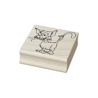 Carimbo De Borracha selo da arte do gato de beco