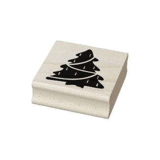 Carimbo De Borracha Selo da arte do silhoette da árvore de Natal