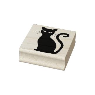 Carimbo De Borracha Selo de assento da arte do gato preto