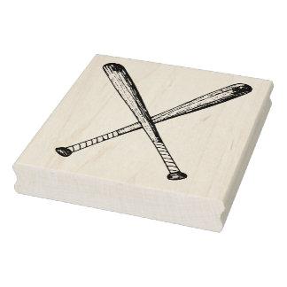 Carimbo De Borracha Selo de madeira cruzado da arte dos bastões de