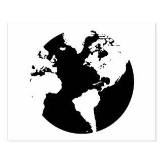 Carimbo De Borracha Selo do design do continente do globo do mundo