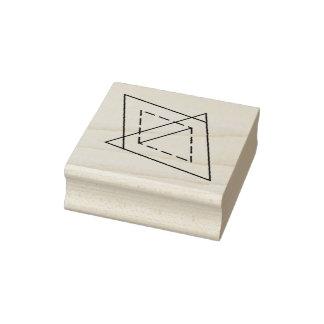 Carimbo De Borracha Selo do duo do triângulo do diamante 3/4 para