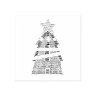 Carimbo De Borracha Selo do hotel da árvore de Natal