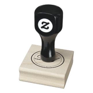 Carimbo De Borracha Selo do monograma do círculo