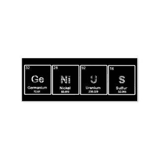 Carimbo De Borracha Selo dos elementos de mesa periódica do gênio