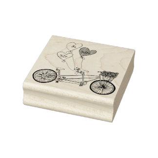 Carimbo De Borracha Selo em tandem da bicicleta do amor