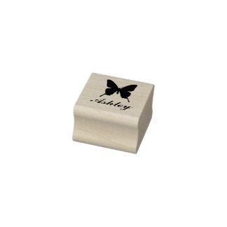 Carimbo De Borracha Selo personalizado da borboleta com nome