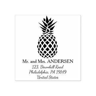 Carimbo De Borracha Selo tropical personalizado abacaxi do casamento