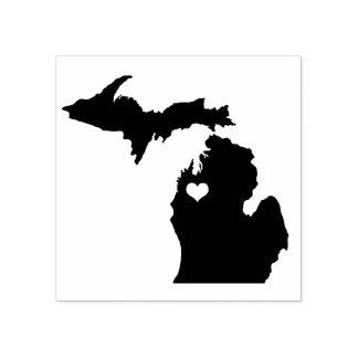 Carimbo de borracha transversal de Michigan da