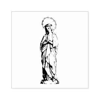 Carimbo De Borracha Virgem Maria abençoada Praying como a rapariga