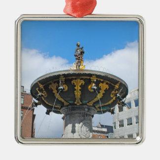 Caritas Copenhaga bom Dinamarca Ornamento Quadrado Cor Prata