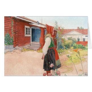 Carl Larsson a casa de Falun Cartão