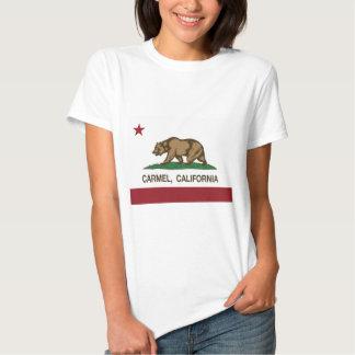carmel da bandeira de Califórnia Tshirts