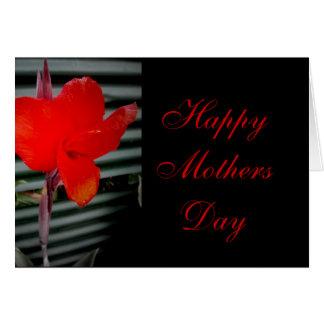 Carmesins e preto do dia das mães cartão comemorativo