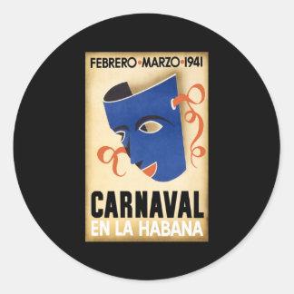 Carnaval 1941 de Habana Carnaval Havana Adesivo Redondo