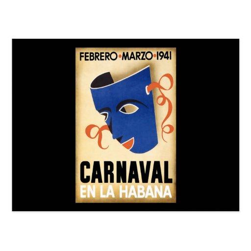 Carnaval 1941 de Habana Carnaval Havana Cartao Postal
