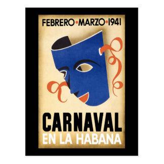 Carnaval 1941 de Habana Carnaval Havana Cartão Postal