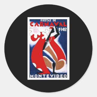 Carnaval 1942 de Habana Carnaval Havana Adesivo Em Formato Redondo