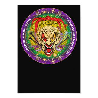 Carnaval 2011 Joker-V-3 Convite 12.7 X 17.78cm