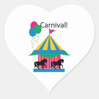 Carnaval! Adesivo De Coração