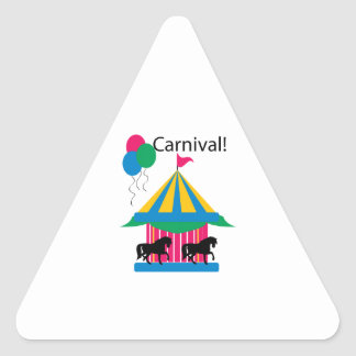 Carnaval! Adesivo Em Forma De Triângulo