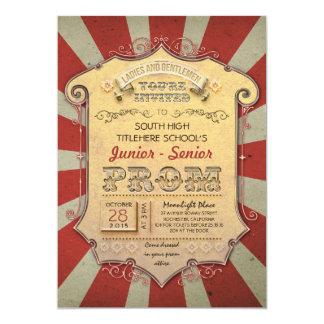 carnaval - baile de formatura do vintage do circo convite 12.7 x 17.78cm
