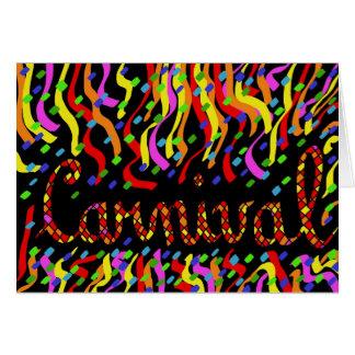 Carnaval Cartão Comemorativo