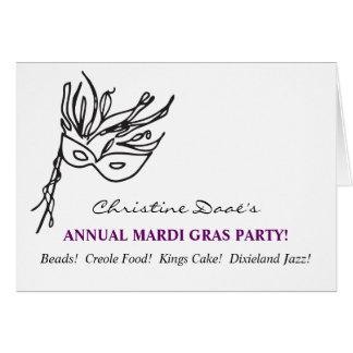 Carnaval! Cartão De Nota