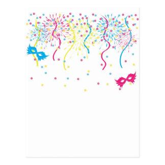 Carnaval colorido cartão postal