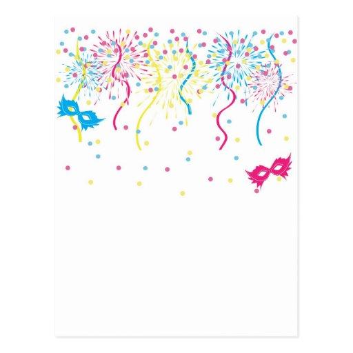 Carnaval colorido cartao postal