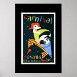 Carnaval Cuba Havana do poster das viagens vintage