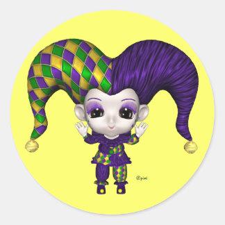 Carnaval do mundo de Blythe - etiquetas Adesivo Redondo