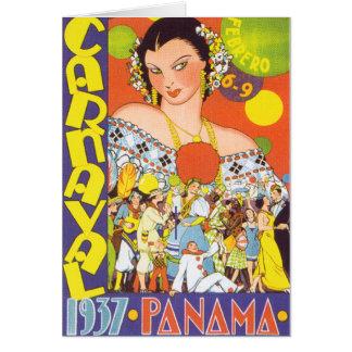 Carnaval em Panamá Cartão Comemorativo