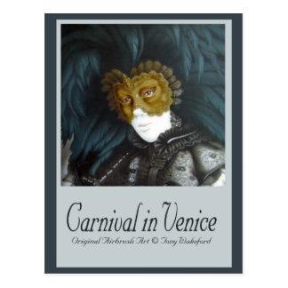 Carnaval em Veneza Cartão Postal