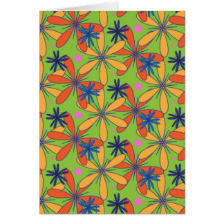 Carnaval floral cartão de nota