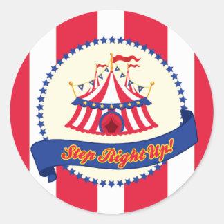 Carnaval ou etiqueta do circo adesivos em formato redondos