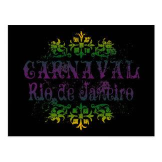 Carnaval Rio de Janeiro Cartão Postal