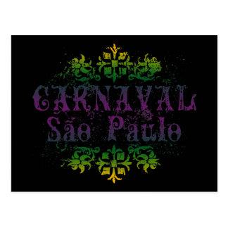 Carnaval Sao Paulo Cartão Postal