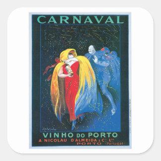 Carnaval Vinho faz a arte do anúncio do vinho do Adesivo Quadrado