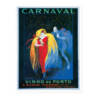 Carnaval Vinho faz a arte do anúncio do vinho do Cartão Postal