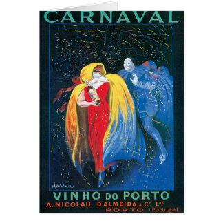 Carnaval Vinho faz a arte do anúncio do vinho do v Cartoes