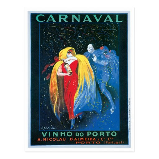 Carnaval Vinho faz a arte do anúncio do vinho do v Cartões Postais
