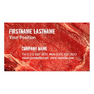 Carne crua fresca cartão de visita