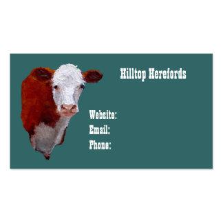Carne de Hereford: Cartão de visita: Arte pintada  Cartão De Visita