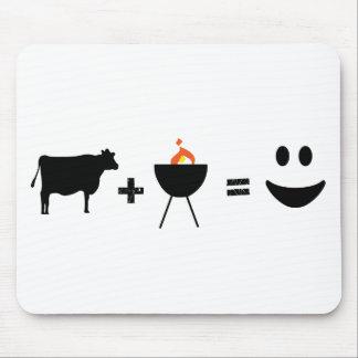 Carne do CHURRASCO feliz Mouse Pad