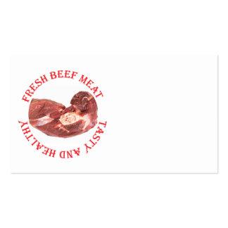 Carne fresca da carne modelo de cartões de visita